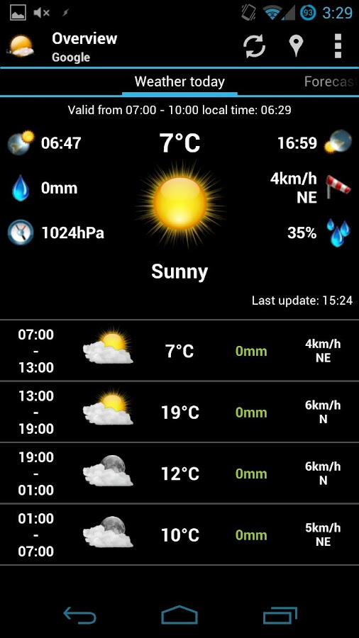 AmberHome Weather free - screenshot