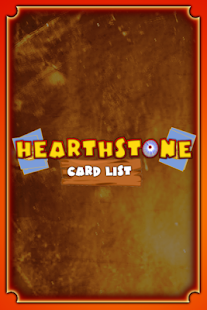 Hearthstone Cards list - screenshot thumbnail