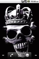 Screenshot of Crown Skull LiveWallpaper