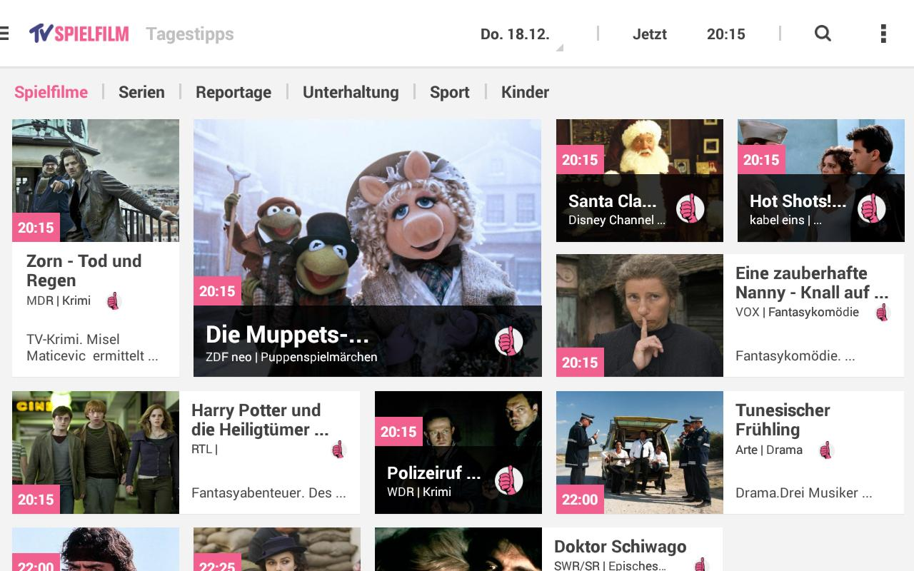 TV SPIELFILM - TV Programm - screenshot