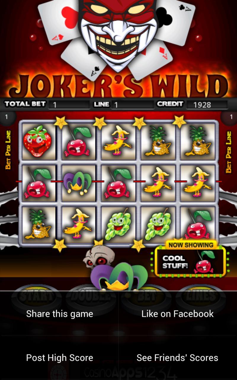 Jokers Wild Slot Machine HD screenshot #4
