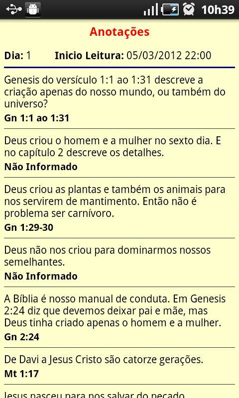 Bíblia Diária Ctrl: captura de tela