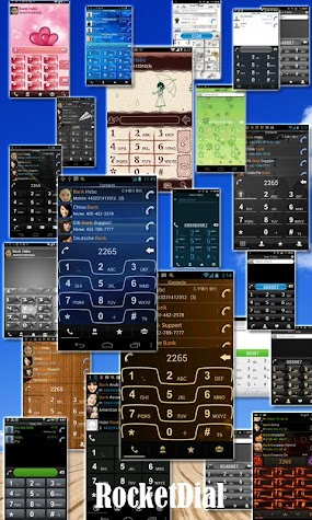 RocketDial Razr Gold Theme Screenshot