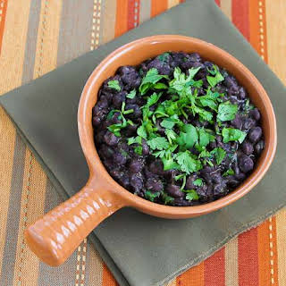 Slow Cooker Black Beans with Cilantro.