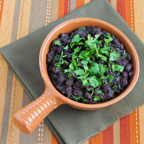 Slow Cooker Black Beans with Cilantro Recipe