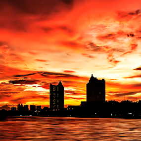 red sky by Aris Susanto - Landscapes Sunsets & Sunrises