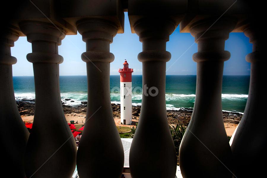 Umhlanga Lighthouse by Linda McDougall - Landscapes Beaches ( my special birthday umhlanga,  )