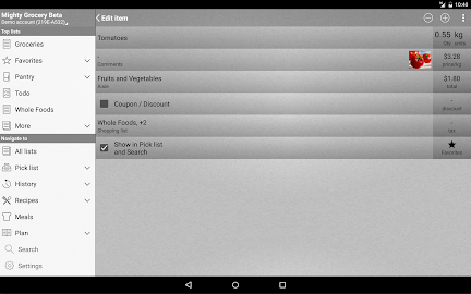 Mighty Grocery Shopping List Screenshot 12