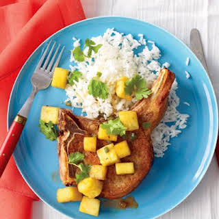 Pork Chops with Pineapple and Rice.