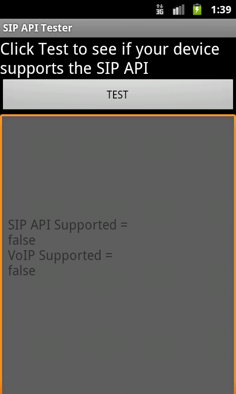 SIP API Tester- screenshot
