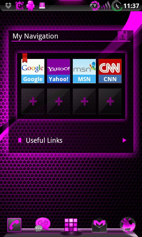 GOWidget AdeaPink ICS - Free- screenshot
