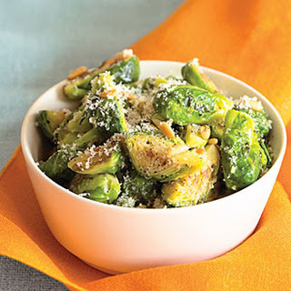 Brussels Sprouts with Parmesan and Pine Nuts.