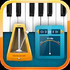 Metronom, sintonizador, piano icon