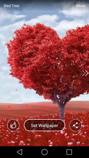 Red Tree Live Wallpaper