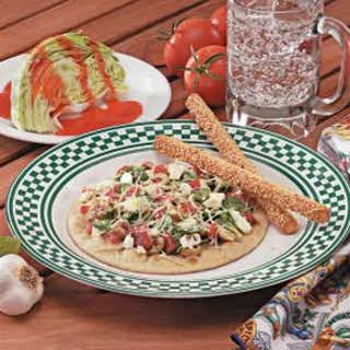 Greek Pita Pizzas.