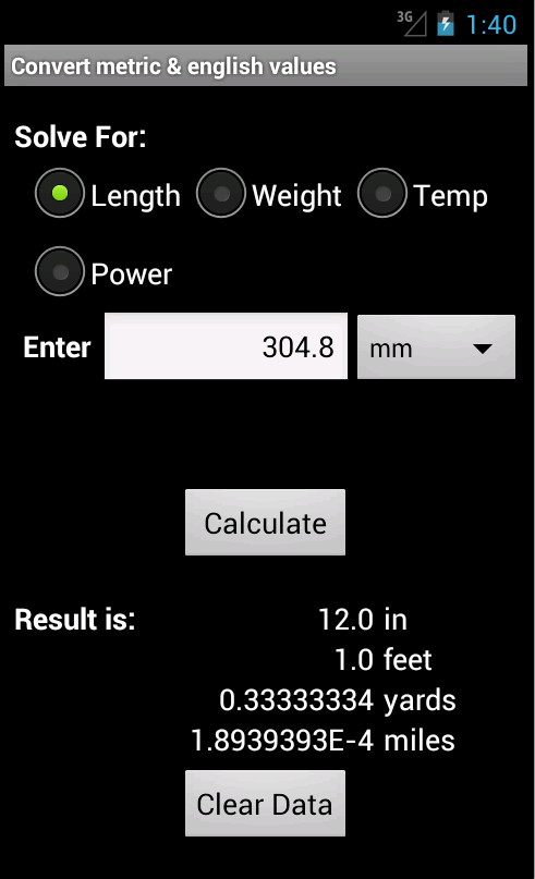 Electrical Calculator by DCI- screenshot
