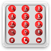 exDialer Iris Red theme Icon