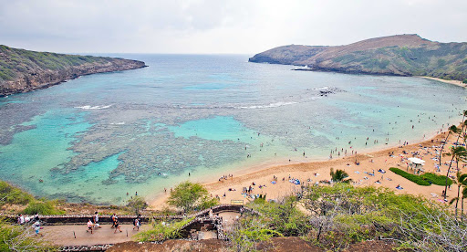 Hanauma-Bay-Oahu - More than 1 million people from around the globe visit Hanauma Bay on Oahu each year. Visitors must watch a short documentary before entering the park.