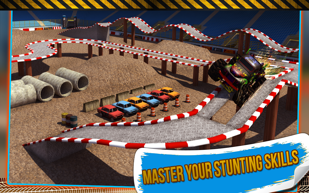 4x4 Monster Truck Stunts 3D- screenshot