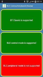 BLE Central,Peripheral Check- screenshot thumbnail