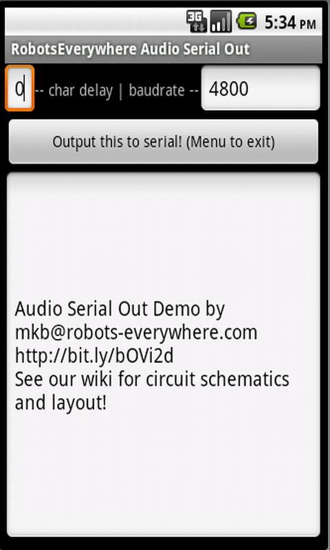 Audio Serial Out - screenshot
