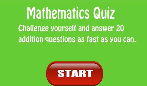 Kid's Math: Addition Quiz