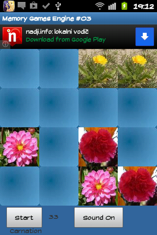 Flowers - memory game