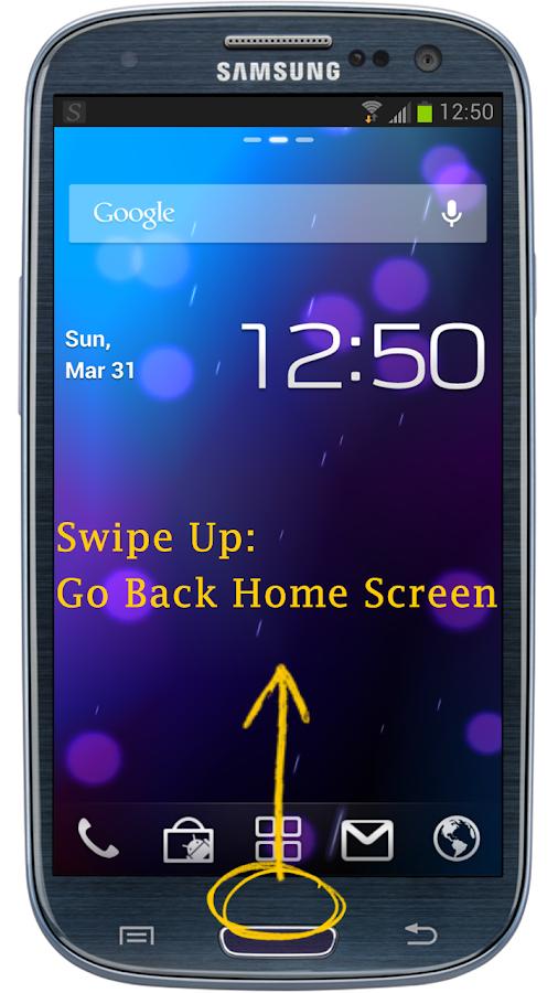 Swipe Home Button - screenshot