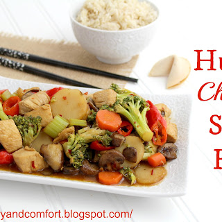 Hunan Chicken and Vegetables.