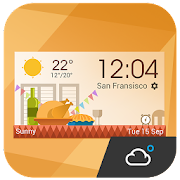 daily weather report clock  Icon