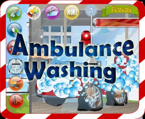 Car Wash Games -Ambulance Wash
