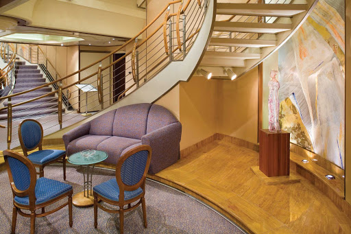 Silversea_reception_lobby - After you get settled in, you can find a guest relations specialist in the main lobby to provide service or assistance 24 hours a day.