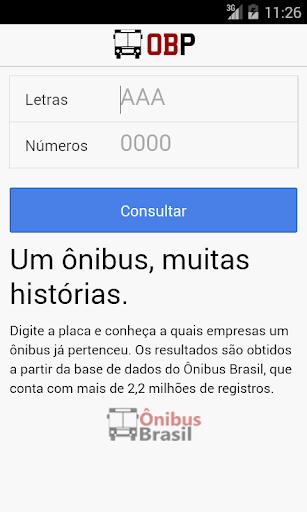 OBP - Ônibus Brasil Placas