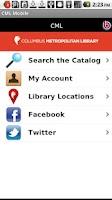 Screenshot of Columbus Library Mobile