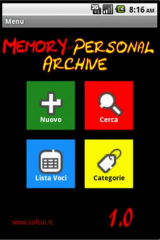 Memory Personal Archive Pro - screenshot