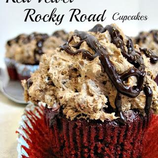 Red Velvet Rocky Road Cupcakes