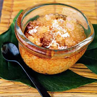 Tapioca Pudding with Coconut Cream and Palm-Sugar Syrup