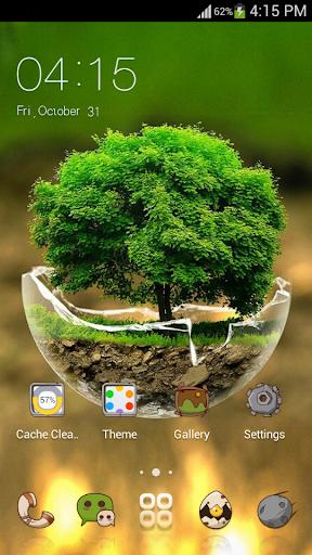 2018HD Green Nature Cartoon Theme for android free 3.9.14 screenshots 1
