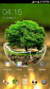 Green Nature Comic theme - for Android HD theme- screenshot thumbnail