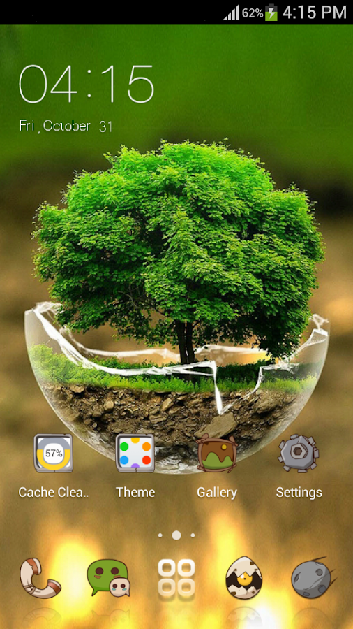 Green nature hd theme comic android themes free android for Ideanature