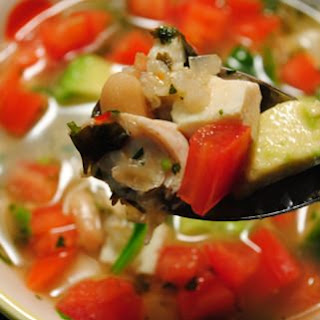 Mexican Tofu & Rice Slow Cooker Soup