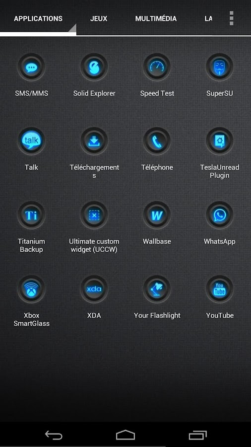Blaque Blue icon pack - screenshot
