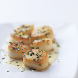 Sea Scallops with Cilantro Gremolata and Ginger Lime Beurre Blanc.