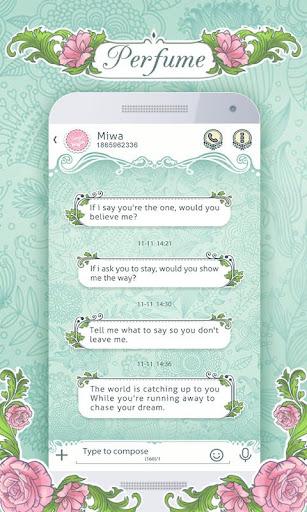 GO SMS PRO PERFUME THEME