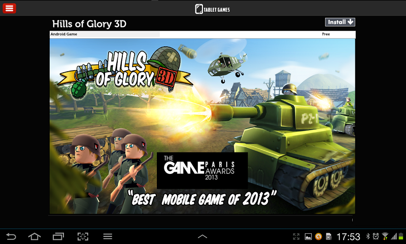 Games for Tablets - screenshot