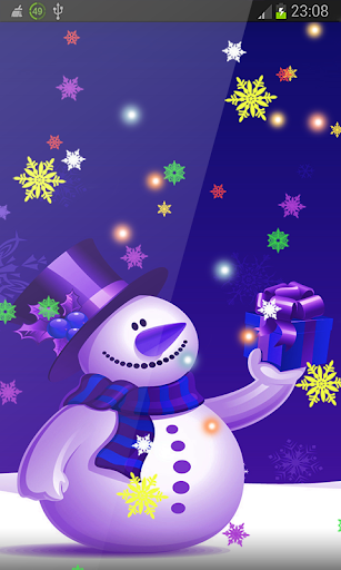 Blue and White Snowmen HD LWP
