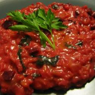 Beet and Cheddar Risotto