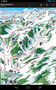 GPS on ski map- screenshot thumbnail