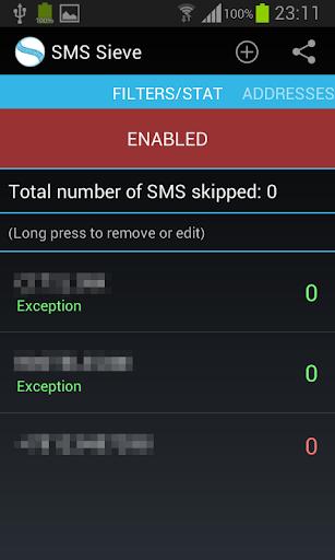 SMS Sieve