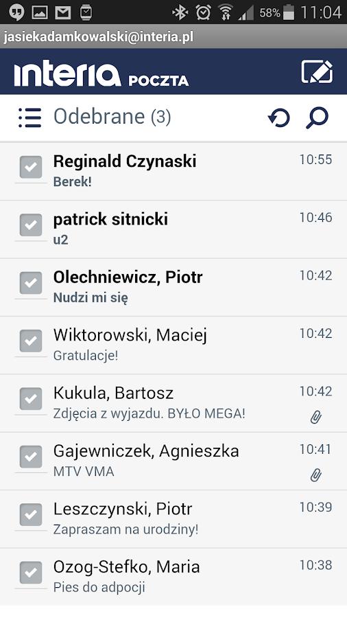 Poczta INTERIA.PL - screenshot